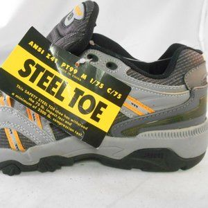 Dunham by New Balance Gray Work Shoes w/ Steel Toe